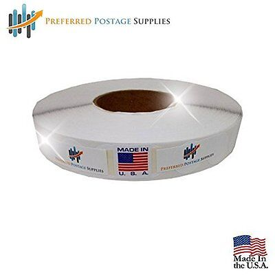 """Preferred Postage Supplies White 1"""" Wafer Seals 500 Tabs Per Roll USPS Approved"""
