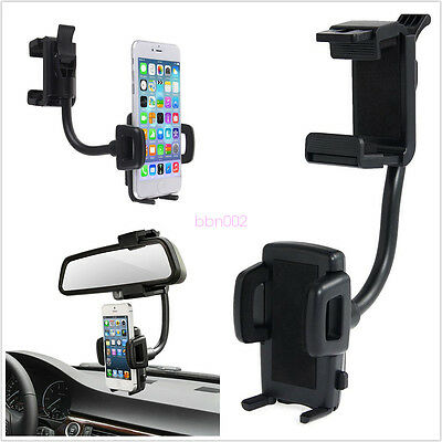 2 in1 Universal 360° Car Rear View Mirror Stand Mobile Phone Mount Holder