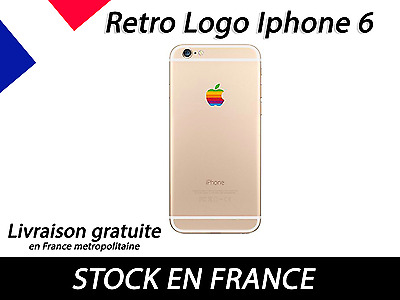 Retro Logo Apple IPhone Rainbow Arc-en-ciel Stickers Autocollant Coque Case