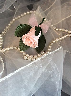 Childs / Childrens Pale Pink Foam Small Buttonhole - Weddings Pageboy / Usher