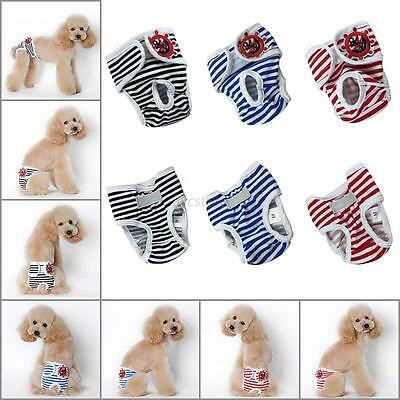Female Male Pet Dog Puppy Diaper Pants Physiological Sanitary Panties Nappy NEW
