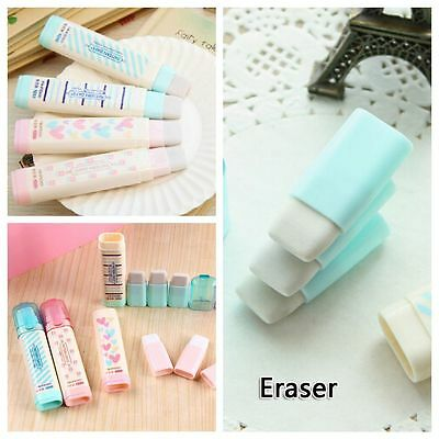 Cute 2pcs Fashion Korean Style Students Eraser Rubber Stationery Kid Gift Toy