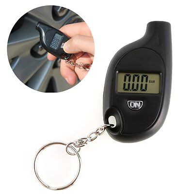 Portable Mini Keychain LCD Digital Tire Tyre Air Pressure Gauge Car Auto Tools