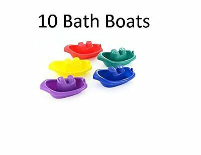 Baby Toddler Bath Tub Play Time Floating Multi Coloured Boats Toy 3 Months+