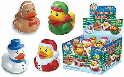 12 X Christmas Rubber Bath Ducks