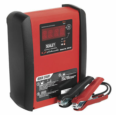 Sealey SPI15S Intelligent Speed Charge Battery Charger 15Amp 12V