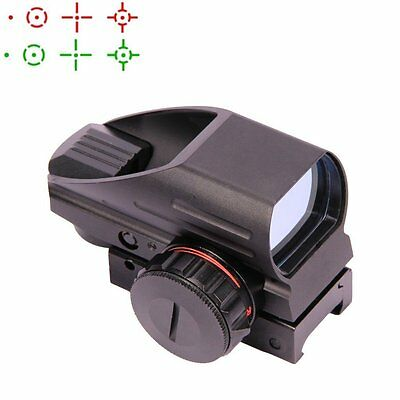 UUQ Tactical Holographic Open Red Green Dot Reflex Scope Sight 4 Reticles