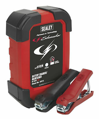 Sealey SPI1S Intelligent Speed Charge Battery Charger 1Amp 6/12V