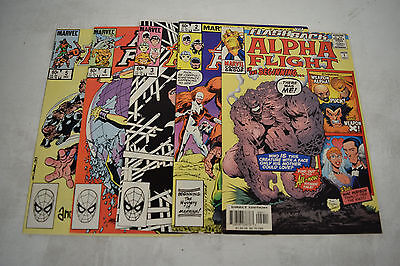 Alpha Flight Comic Books 5 Lot -1 2 3 4 5 NM Wolverine Puck Vindicator X-Men