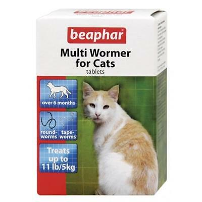 Beaphar Cat Kitte Multi Wormer Worming Roundworm Tapeworm Tablets Treatment 12pk