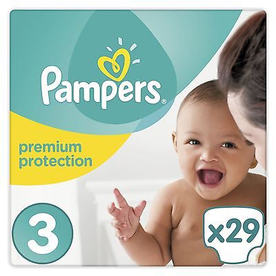 Pampers New Baby Nappies Size 3 Caryy Pack Wetness Indicator 4kg-9kg Pack of 29