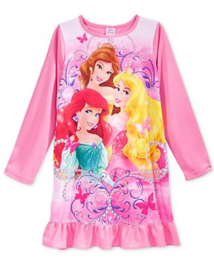 0726191694 NWT DISNEY STORE Girl Nightshirt Nightgown Ariel Little Mermaid 4