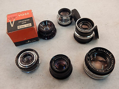 6 Enlarger Lenses 3 Leica Mount Guaranteed & Returnable