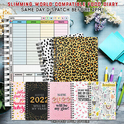 Food Diary, Slimming World Compatible, Tracker, Journal, Log, Weight Loss, Diet