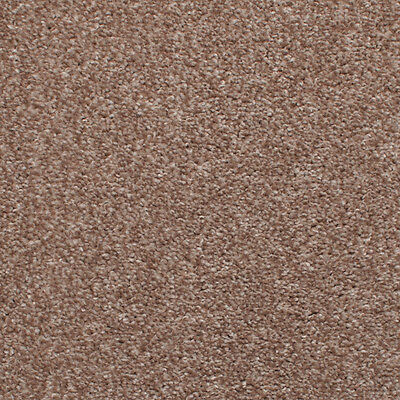 Beige Brown Hessian Back Budget Saxony Carpet, Cheap Hardwearing Soft Pile
