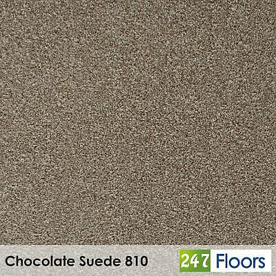 Chocolate Suede 810 Moorland Carpet Flecked Twist Pile Action Felt Back 4m & 5m