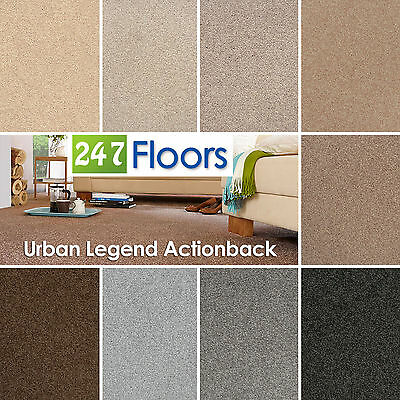 Urban Legend Carpet - Stain Resistant Saxony - Quality Actionback - ONLY £6.49m²