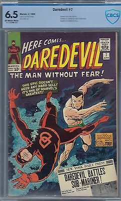 Daredevil # 7 : Cbcs 6.5 Oww Pgs- 1St Red Costume-1965