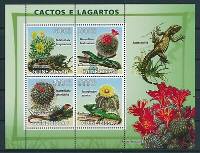 [GBIN15666] Guinea Bissau 2008 Cactus - Lizards Good sheet very fine MNH