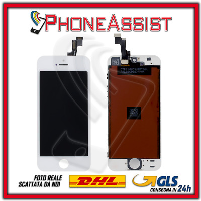 DISPLAY LCD VETRO TOUCH Apple iPhone 5S SCHERMO ORIGINALE TIANMA Bianco