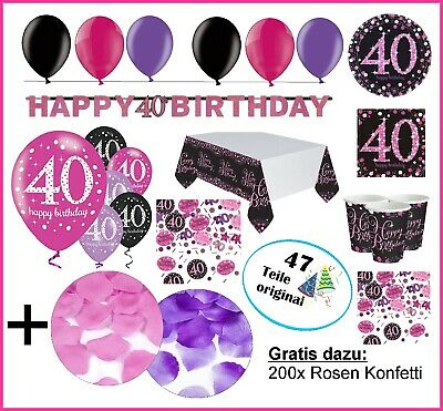 pink party deko zum geburtstag servietten zahlen wimpel zahlen 18 30 40 50 60 eur 2 75. Black Bedroom Furniture Sets. Home Design Ideas