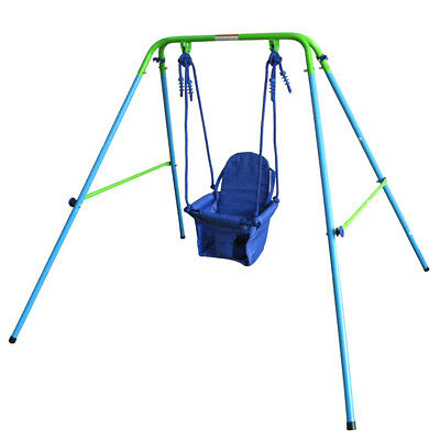 Safety Baby Toddler Indoor Outdoor Garden Play Fun Swing Set Trapeze Soft Seat