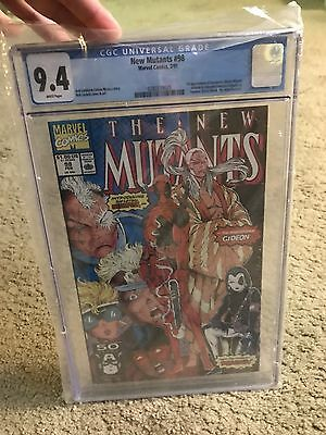New Mutants #98! 1st Appearance Of Deadpool! CGC 9.4! White Pages!