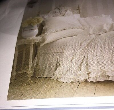 E Vintage White Simply Shabby Chic Bed Skirt Dust Ruffle Twin Rachel Ashwell