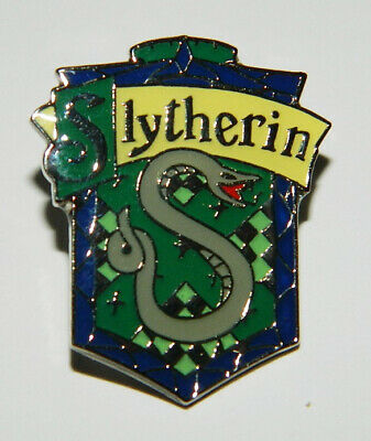 Harry Potter House of Slytherin Logo British Metal Enamel Pin NEW UNUSED