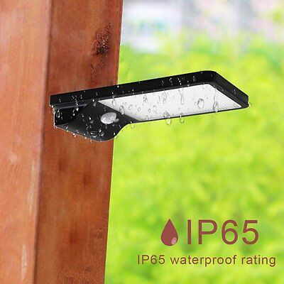 42LED Solar Powered Waterproof Motion Sensor Garage Shed Light Garden Lighting