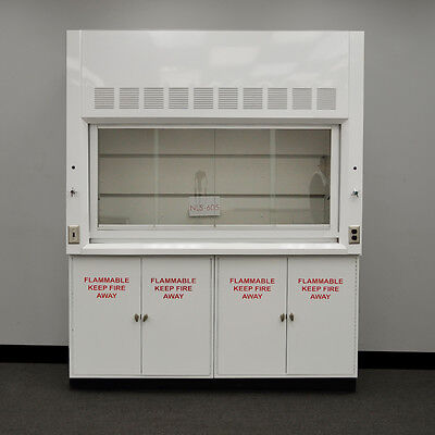 Laboratory 6' Chemical Fume Hood With Flammable Storage Cabinets NLS-605
