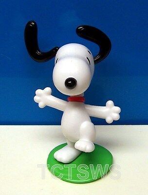 "PEANUTS Just Play ~ Snoopy Dancing and Jumping 3"" Collector PVC Figure NEW"