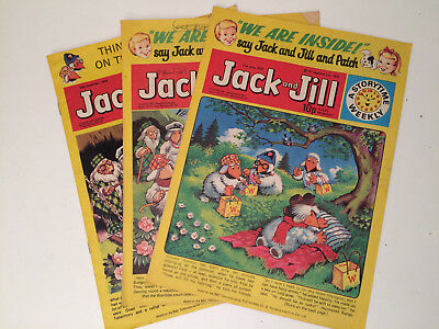 Jack and Jill Comic with The Wombles 13 Dec 1975, 6 May 1978, 17 Jun 1978