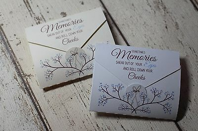 Personalised Funeral Favours/remembrance/Condolance-Blue