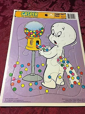 1992 Vintage Golden Framed Tray Puzzle Casper The Friendly Ghost Gumballs