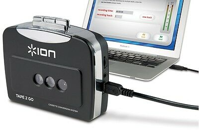 ION Audio Tape 2 Go Portable Analog to MP3 Digital Cassette Converter/Player New