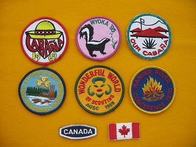"Vintage Girl Guides Of Canada - Collection ""d"" Of Eight Patches."