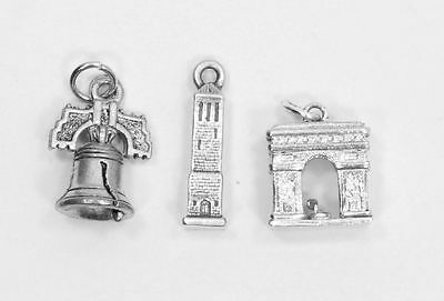 Stunning Set of 3 Estate Pendants  in Sterling Silver