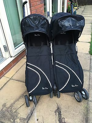 Silver Cross Double Pushchair Buggy Stroller