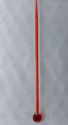 """Bulb Style  Replacement  Thermometer 12"""" scale  x 3/16"""" wide Glass Bulb Style"""
