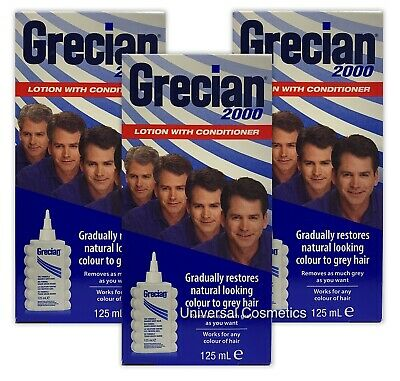 3 Pack Grecian 2000 Colour Lotion 125ml- GENUINE/FREE DELIVERY