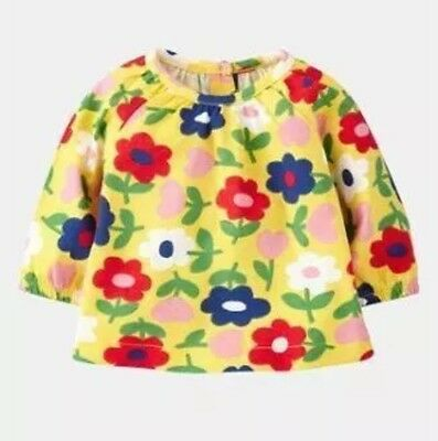 Brand New Mini Boden Noticeably Georgeous Yellow Floral Smock Top 3-6 Months