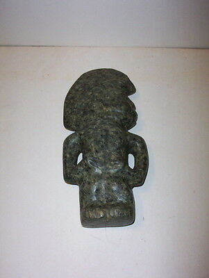 Pre-Columbian Greenstone Ceremonial Aztec Figure