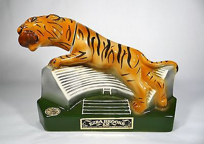 Vintage Heritage China Ezra Brooks Tiger Football Stadium Decanter Liquor 1973