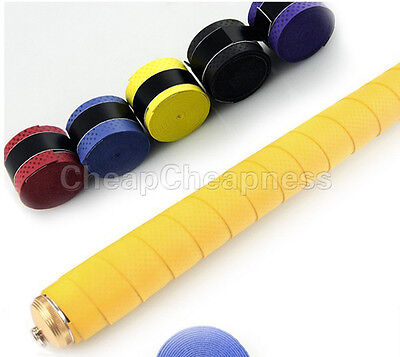 5x Absorb stretchy Tennis Squash Racquet Bands Grips Anti-slip Tape Overgrips BD