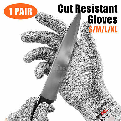 Cut Resistant Butcher Gloves Anti-cutting Safety for Kitchen Outdoor Explore S L
