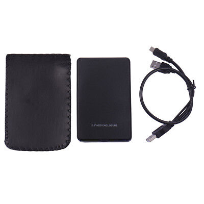 Black USB 2.0 HDD Enclosure for 2.5 Inch External SATA Hard Disk Drive SSD Case