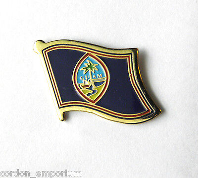 Guam National Country World Flag Lapel Pin Badge 1 Inch