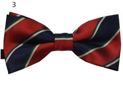"Baby/Toddler/Young Boy's Red Patterned Bow Ties w/Blk 25"" or 30""-36"" Suspenders"