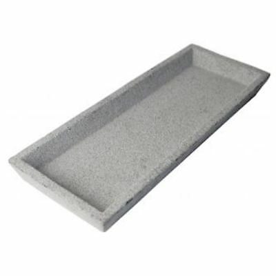 Handmade Natural Colour Square Concrete Tray Grey 33.5*12.5*3CM